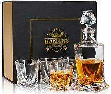 KANARS Twist Whisky Karaffe Set, Bleifrei