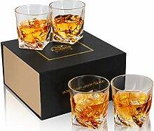 KANARS Whiskey Gläser Set, Bleifrei