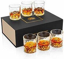 KANARS Whisky Gläser, Bleifrei Kristallgläser,