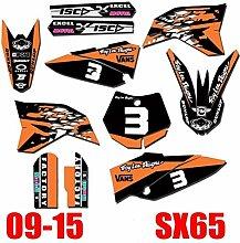 KANCK Motocross-Aufkleber 6 Arten Aufkleber