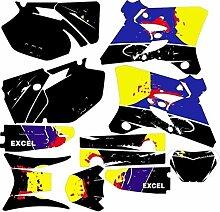 KANCK Motocross-Aufkleber Motorrad-voller Satz von