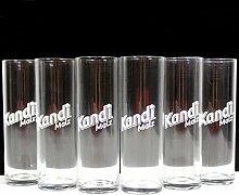 Kandi Malz Gläser 6x0,25l Malzbier Glas ~mn 529