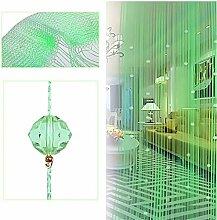 Kangkang Kristallglas-Perlenvorhang mit Quasten,