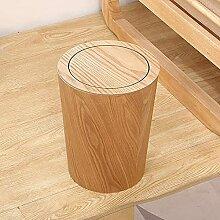 KANGNING Holz Mülleimer mit Swing Deckel Runder