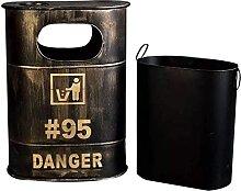 KANGNING Rustikale Metall Mülleimer Industrial