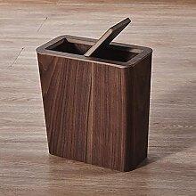 KANGNING ZTMN Holz Mülleimer KANN WACHBASKET