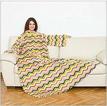 Kanguru 1111Deluxe Zig Zag Decke mit Ärmeln und