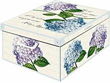 Kanguru Aufbewahrungsbox Midi, Motiv: Hortensien,