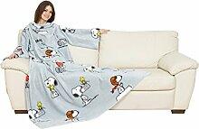 Kanguru Deluxe-Decke mit Snoopy-Motiv, grau