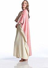Kanguru Rose Decke Momonga, aus Weichem Fleece,