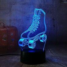 KangYD LED Roller Skates 3D Nachtlicht,