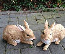 Kaninchen Figur 2-er Set Hase Dekofigur 18cm