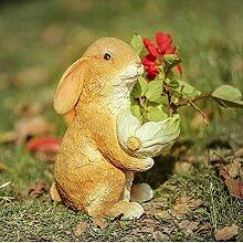 Kaninchen Garten Pflanzgefäß Outdoor Statue Hase