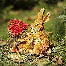 Kaninchen Garten Pflanzgefäß Outdoor Statue