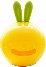 Kaninchen-Gewebe-Kasten ABS-Gewebe-Papier-Halter-gelbe gelegentliche Farbe