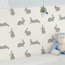 Kaninchen Kinderzimmer Dekor Schablone. Kaninchen