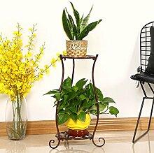 Kante zu Blume Racks Blume Racks Eisen Multi–Ebene Boden–Style Grün Blumentöpfe Europäische–Style Regal Pflanze Racks kupfer