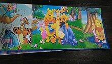 Kanten Disney Winnie the Pooh Papier Griechische-Tapete Bunt für Kinderzimmer 3013.