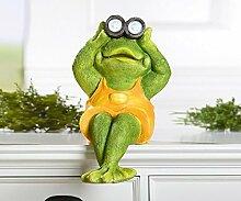 Kantensitzer 'Frosch', 41 cm, grün
