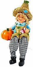 Kantensitzer , kantenhocker Herbst Dekoration deko mit baumelnden Beinen