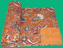 Kantha-Tagesdecke, indisch, handgefertigt,