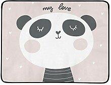 KAOROU Baby-Dusche-Karte Panda Print tragbare und