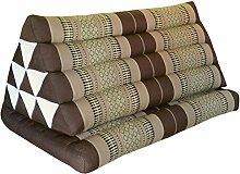 Kapok Thaikissen, Dreieck XXL mit 1 Auflage in