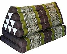 Kapok Thaikissen, Dreieck XXL mit 2 Auflagen in
