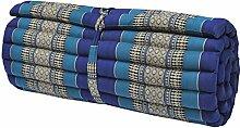 Kapok Thaikissen, Rollmatte breit (82214 - blau)