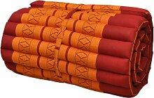 Kapok Thaikissen Rollmatte schmal, rot/orange