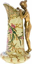 Karaffe Vase aus Porzellan und Bronze im