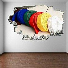 Karate Gürtel Wandkunst Aufkleber Wandtattoos