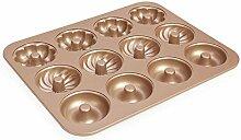 Karbonstahl Donutform antihaftbeschichtet Mini