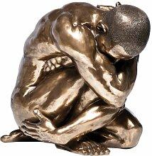 Kare 34731 Deko Figur Nude Man Hug Bronze 54 cm