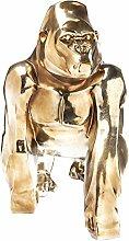 Kare 38564 Deko Figur Proud Gorilla Accessoires, Polyresin, Gold, 27 x 50 x 60 cm