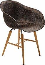 Kare 77486 Stuhl mit Armlehne Forum, Braun