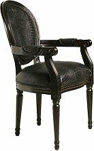 Kare 78063 Stuhl mit Armlehne Gastro Louis, Schwarz