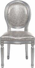 Kare 79187 Stuhl Louis, Silber-Kroko