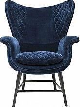 Kare 79523 Sessel Tudor Blue Velve