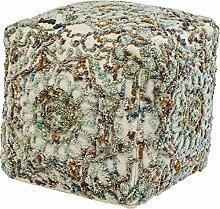 Kare Arabian Flower Sitzwürfel, Andere, Bunt, 50