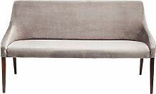 Kare Bank Mode Velvet Grau, 83518, elegante