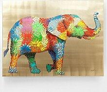 KARE Bild Touched Flower Elefant 120x90cm