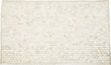 Kare Comp Cream Teppich, Läufer, 100% Echtfell