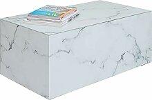 Kare Couchtisch Luxury Marble 90x50cm