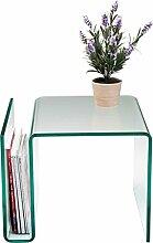 Kare Design Beistelltisch Clear Club Newspaper,