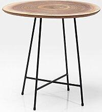 Kare Design Beistelltisch X Nature Tischplatte Baumstamm wallnussfurnier