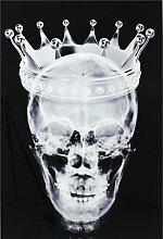 Kare Design Bild Glas Crown Skull 120x80cm,