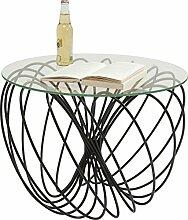 Kare Design Couchtisch Wire Ball, Glastisch rund,