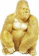 Kare Design Deko Figur Gorilla Side XL Gold,