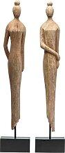 KARE DESIGN Dekofigur MADAME Holz Natur ca. 14 x